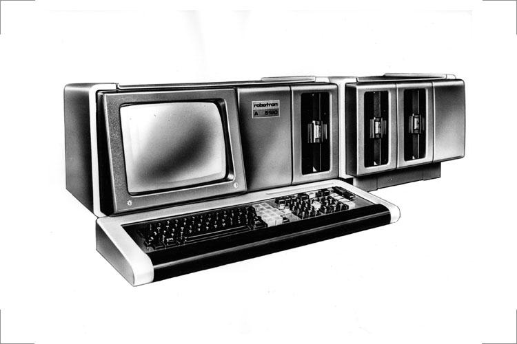 Bildschirm-Auftischgerätereihe mit aufrüstbarer, unterschiedlicher Speichertechnik,modulares System, 1979, Variante