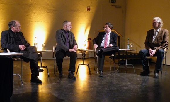 v.l.n.r. Michael Conrad, Prof. Karl Clauss Dietel, Prof. Dr. Hans Walter Hütter, Eckberth von Witzleben; Foto: Eberhard Heinig